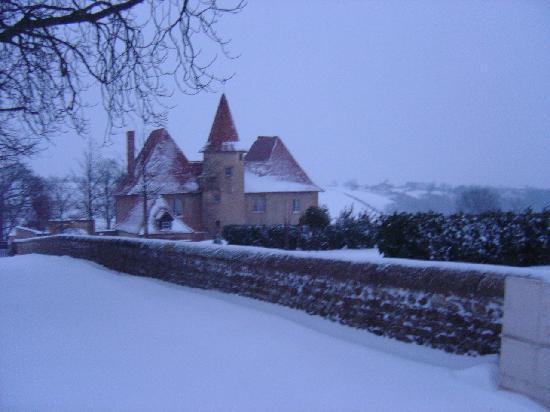 Chateau du Mont : Vue d'hiver