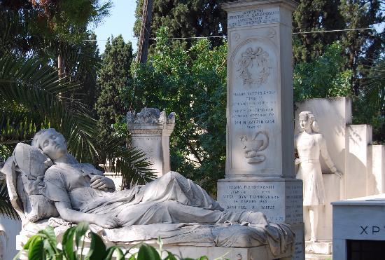 Atene, Grecia: Cimetiere d'Athenes