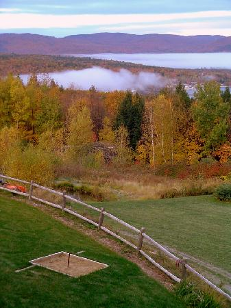 A Newfound Bed & Breakfast: Early morning fog on the lake