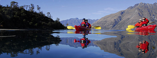 Queenstown Sea Kayaks: Relections on Lake Wakatipu