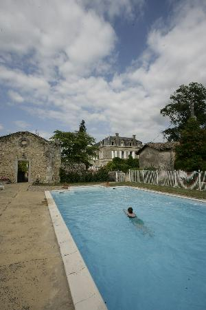 Chateau Carbonneau: Relaxing dip in beautiful pool