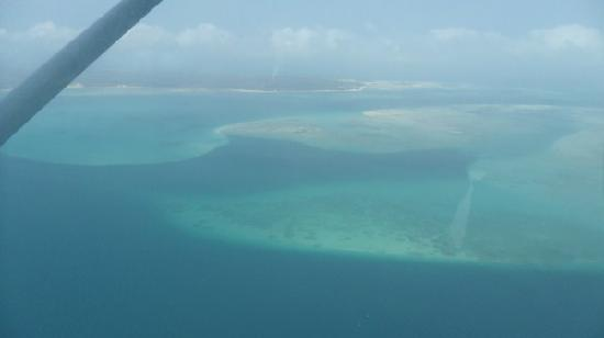 Bazaruto Island, Mozambik: The flight over