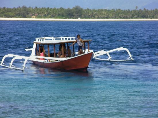 Senggigi, Indonesien: le bateau...!