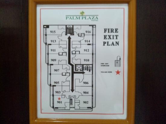 パーム プラザ ホテル, 9F平面図