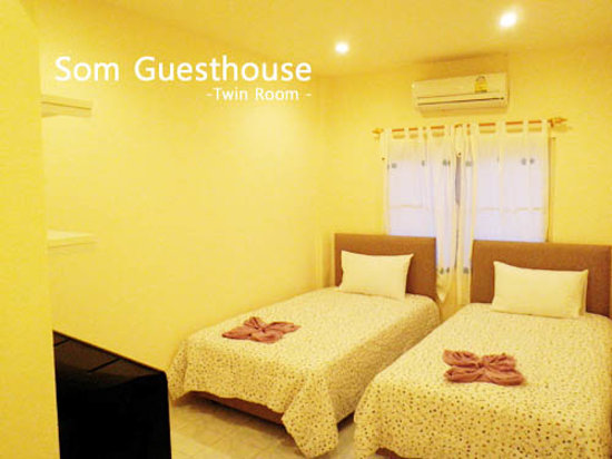 Som guesthouse twin bed room