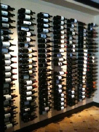 Ruth's Chris Steak House: One of the many wine walls