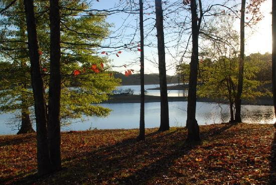 Lake Ouachita State Park Campground: Lake Ouachita close to dawn