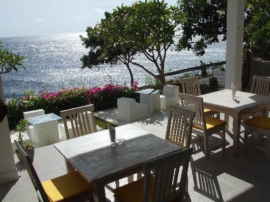 Bed & Breakfast Aquaterrace: 海が見えるレストラン