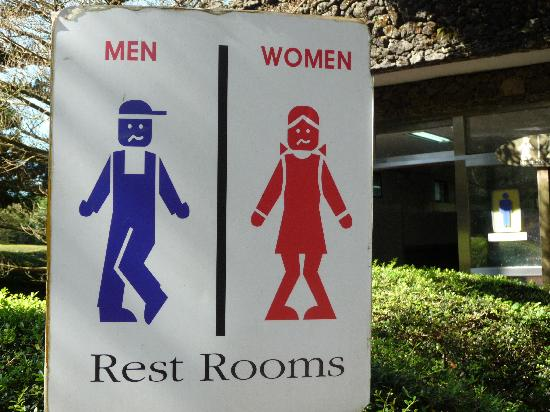 Sangumburi Crater : Rest room sign