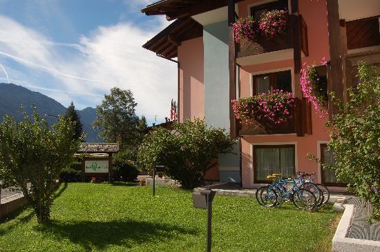 Hotel Quadrifoglio: giardino biciclette