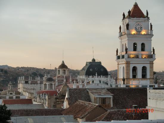 Parador Santa Maria la Real: Blick über Innenstadt