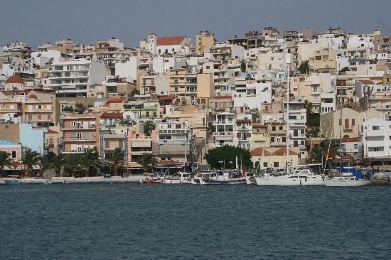 Sitia tumbling down the hill to the harbour
