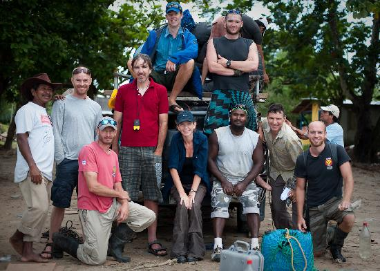 La Ceiba, Honduras: the crew from Omega and the 6 brave people who signed up for 13 days of adventure!