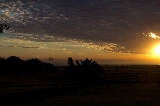 Posada de Campo Gondwana: The view from our room at sunset.