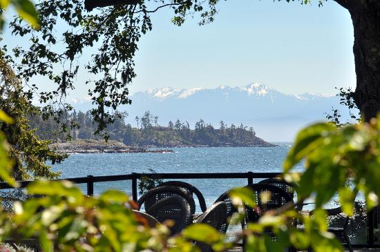 Sooke Harbour House: great water and mountain views from the property