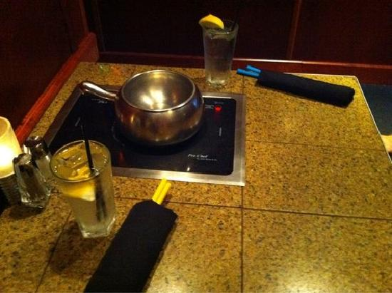 The Melting Pot: Cute booth setup for two.