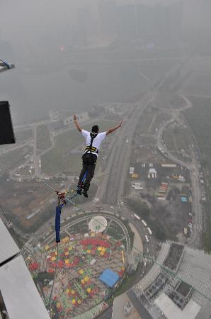 Macau, China: I'm not flying. I'm falling with style.