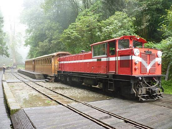 Chiayi County, Taiwan: One of the trains in Alishan Country Park