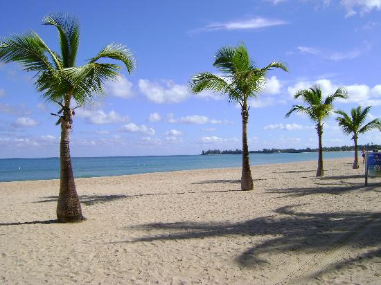 Isla Verde, Puerto Rico: The beach in front of the hotel