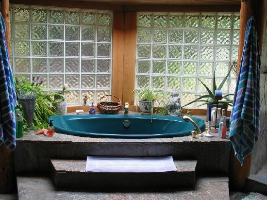 Amberwood on the River Bed and Breakfast: Soaker Tub in Ensuite
