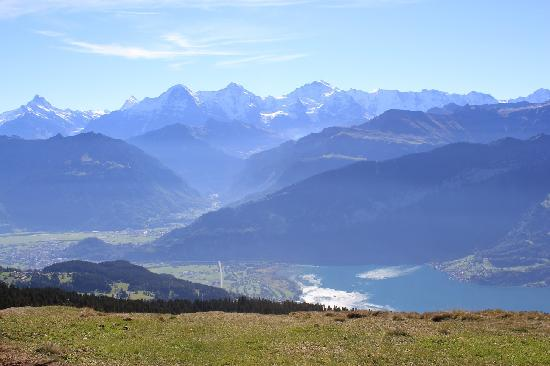 Niederhorn: you can ess INTERLAKEN from this side