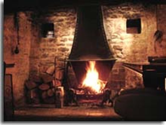 The Ebrington Arms Restaurant: open fire in the bar