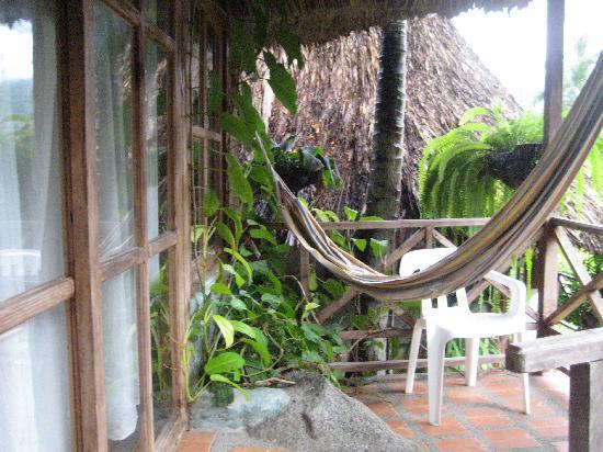 Ecohostal Yuluka: our porch