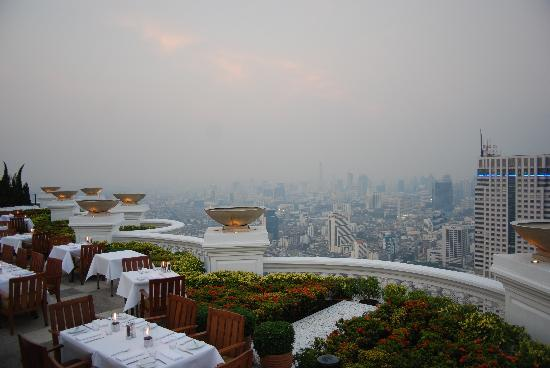 lebua at State Tower: View from the Sky Bar at Sirocco.
