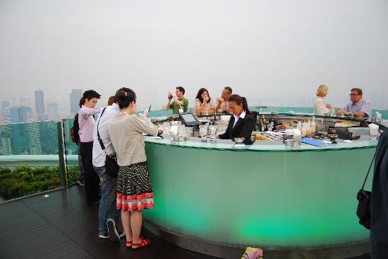 lebua at State Tower: The Sirocco Sky Bar.