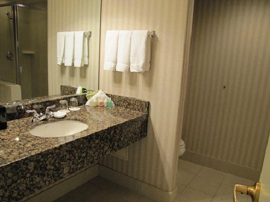 Paramount Hotel: Spacious and clean sink area.