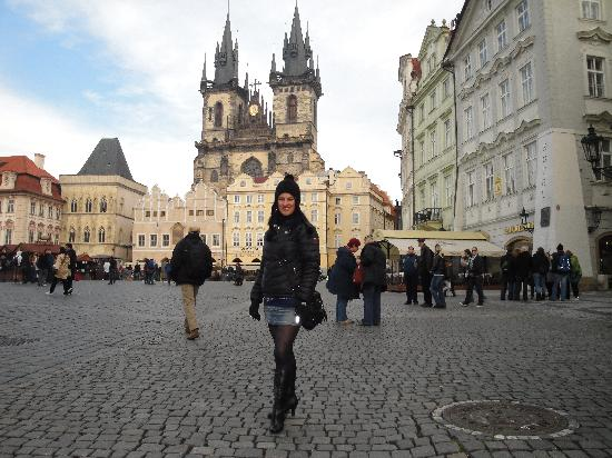 Tyn church from old town square picture of savic hotel for Hotels near old town square prague