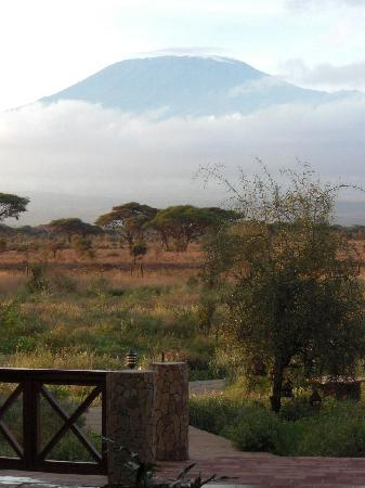 Kilima Safari Camp: view from camp toward kilimanjaro