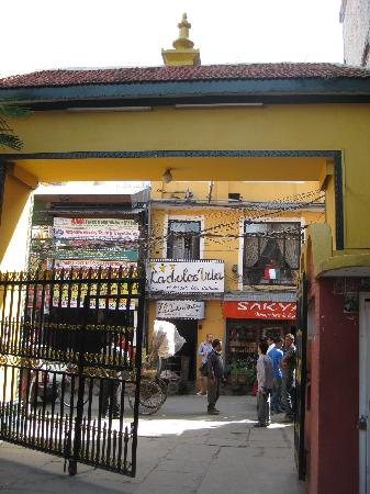 Kathmandu Guest House: The Gate Looking Outside To Street