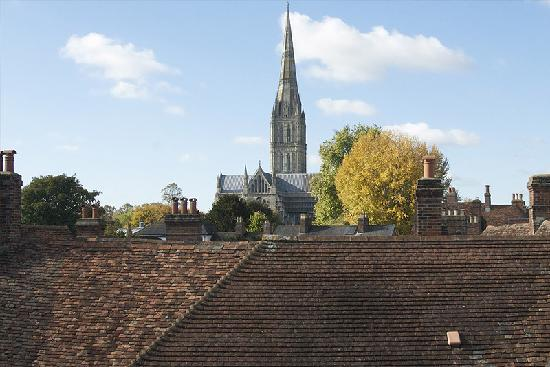 St Ann's House B&B: View of Salisbury Cathedral