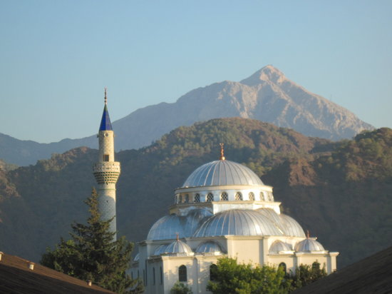 Cirali, Turkey: Dome Sweet Dome! - the Mosque, early morning