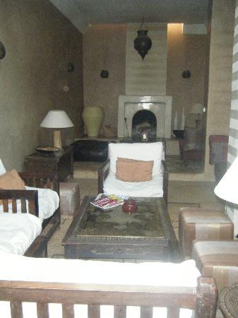 Riad l'Orangeraie: le salon