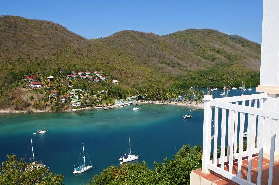Oasis Marigot: View from The Great House, of Marigot Bay