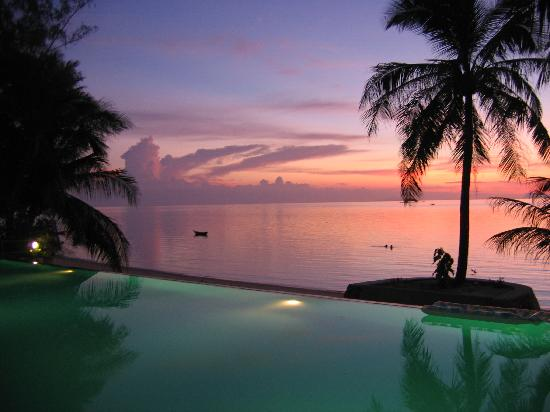 Sunset Cove Resort: Poolside view of the perfect sunset