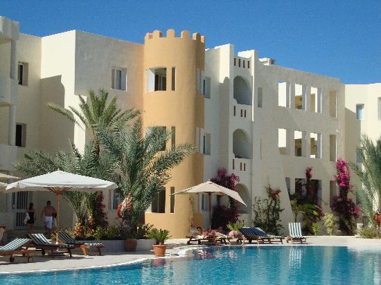Green Palm: chambres donnant sur la piscine