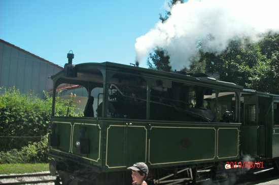 Prien am Chiemsee, Almanya: Chiemseebahn, the steam train from Prien to the docks on Lake Chiemsee