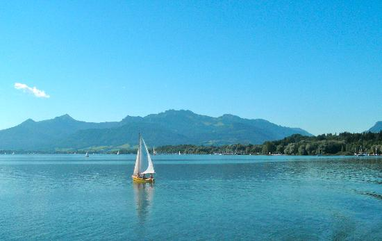 Chiemsee Schifffahrt: Lake Chiemsee, with the Alps in the background