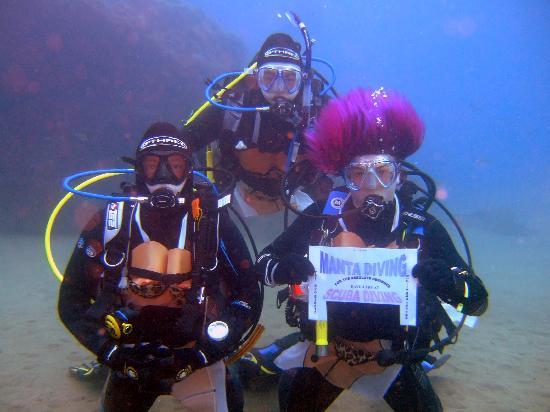 Manta Diving Lanzarote: Me & 2 dive buddies