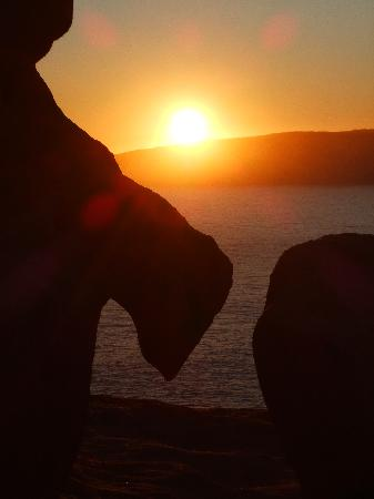 Kangaroo Adası, Avustralya: sunset at Remarkable Rocks