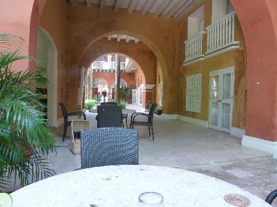 Casa Pestagua Hotel Boutique, Spa: Entrance as seen from inside the hotel