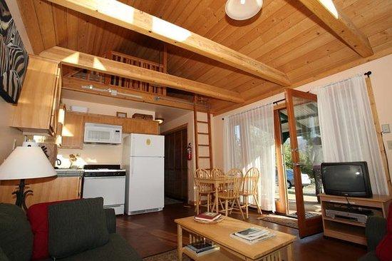 Yosemite Hilltop Cabins: Living room