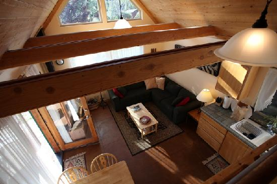 Yosemite Hilltop Cabins: View from the loft