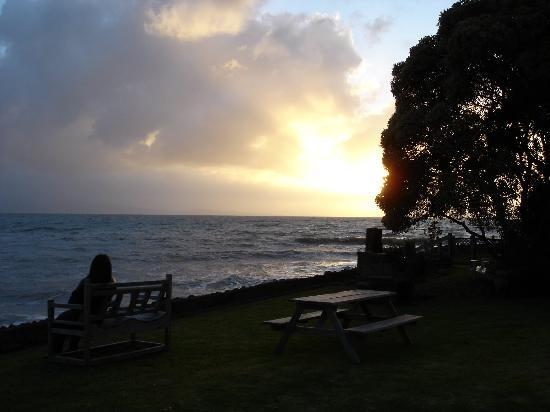 Seaspray Motel: 夕日 Sunset