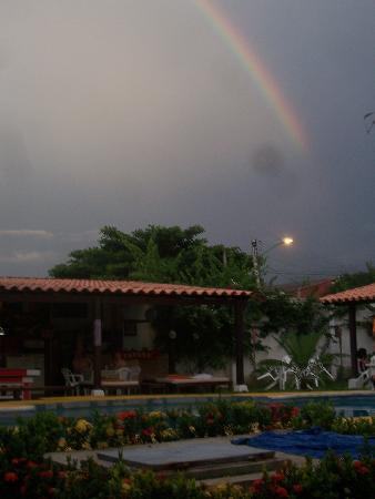 The Dreamer Hostel: Rainbow over the hostel...