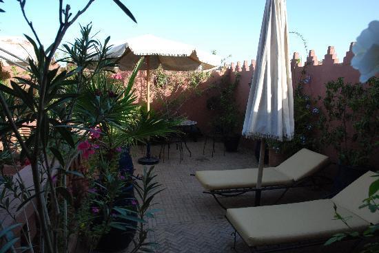 Riad Maipa: la terrasse