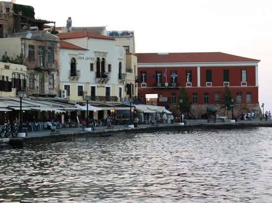 ‪‪Casa Leone Boutique Hotel‬: View of Casa Leone from across harbor‬
